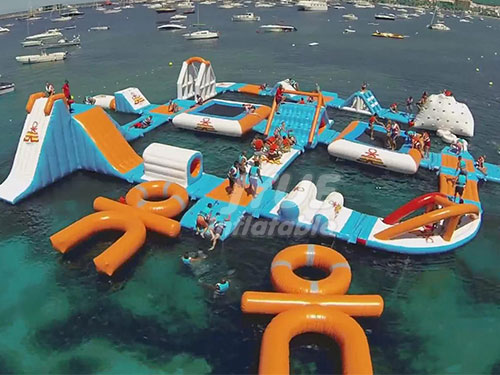 Unique Commercial Inflatable Floating Water Park Water Games For Adults