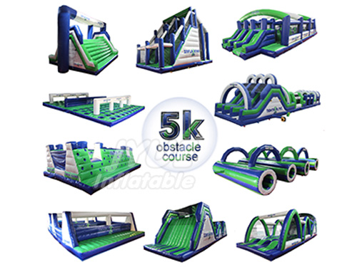 Guangzhou Insan Game Inflatable 5k Obstacle Course For Adults